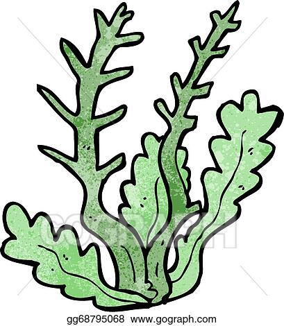 vector art cartoon seaweed eps clipart gg68795068 gograph rh gograph com seaweed clipart free seaweed clipart images
