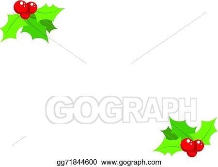 Vector Art Cartoon Simple Mistletoe Decorative Ornament