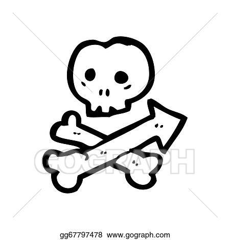 Stock Illustrations Cartoon Skull And Crossbones Arrow Symbol