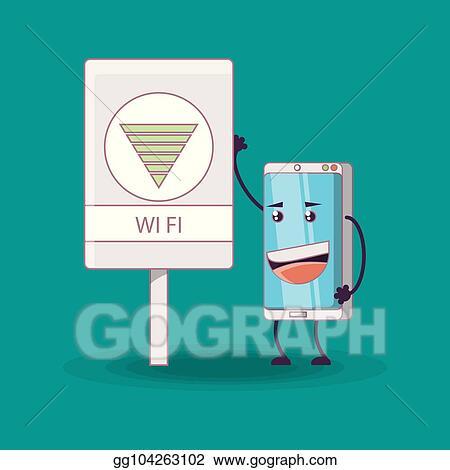 Eps Illustration Cartoon Smartphones Design Vector Clipart Gg104263102 Gograph