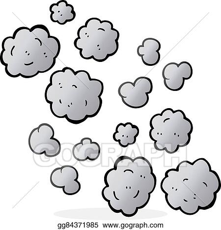 Smoke cartoon. Vector illustration clouds eps