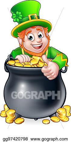 EPS Illustration - Cartoon st patricks day leprechaun and ...