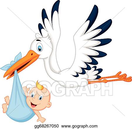 stork carrying baby clip art royalty free gograph rh gograph com stork and baby girl clipart stork bringing baby clipart