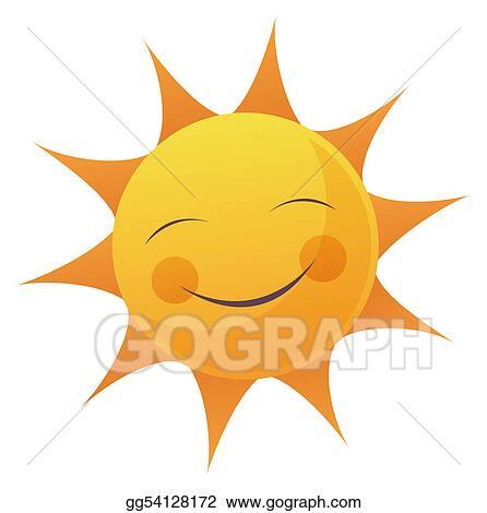 stock illustration cartoon sun face clipart gg54128172 gograph rh gograph com cartoon sunglasses clipart sun sunglass cartoon clip art