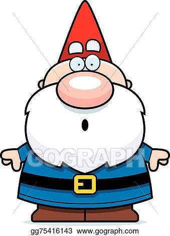 vector art cartoon surprised gnome clipart drawing gg75416143 rh gograph com gnome clipart black and white gnome images clip art