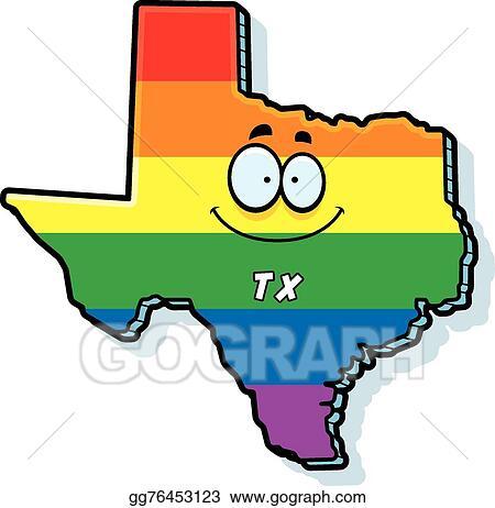 vector stock cartoon texas gay marriage clipart illustration rh gograph com