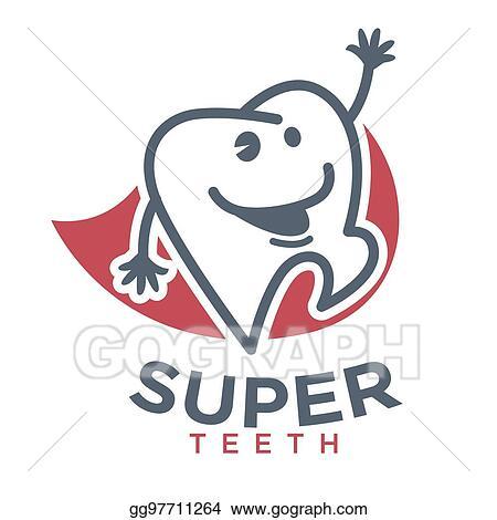 Vector illustration cartoon tooth vector logo template children cartoon tooth vector logo template children dentistry dental product maxwellsz