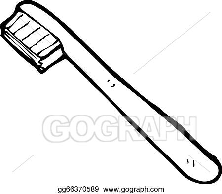vector illustration cartoon toothbrush eps clipart gg66370589 rh gograph com toothbrush clipart images toothbrush clipart black and white