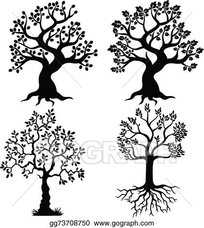 Eps Vector Cartoon Tree Silhouette Stock Clipart Illustration Gg73708750 Gograph Coconut tree illustration, arecaceae cartoon tree , palm tree cartoon transparent background png clipart. eps vector cartoon tree silhouette