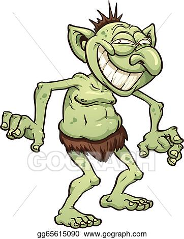 vector illustration cartoon troll eps clipart gg65615090 gograph rh gograph com troll clipart free troll clip art in color to print for free