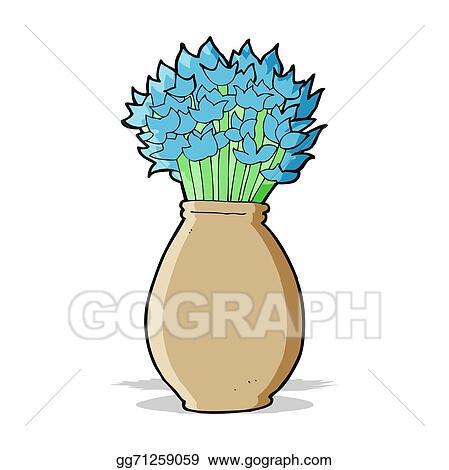 Vector Art Cartoon Vase Of Flowers Eps Clipart Gg71259059 Gograph