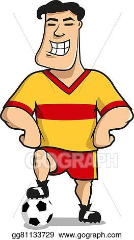 Vector Art Cartoonhappy Football Or Soccer Player Eps Clipart Gg81133729 Gograph