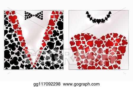 Clip Art Vector Casino Poker Vip Card Background Vector Illustration Stock Eps Gg117092298 Gograph