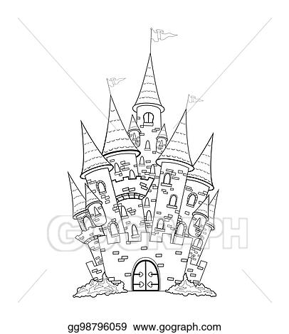 Vector Stock Castle Outline Stock Clip Art Gg98796059 Gograph