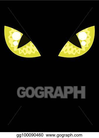 Vector Art Cat Eyes Clipart Drawing Gg100090460 Gograph