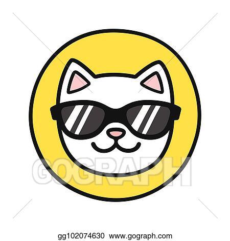 Vector Stock Cat Face In Sunglasses Stock Clip Art Gg102074630