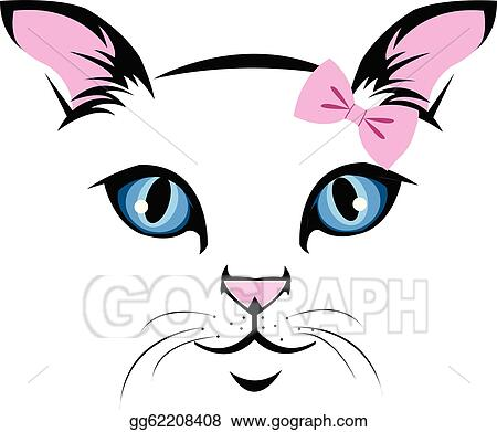 vector stock cat face clipart illustration gg62208408 gograph rh gograph com cat face clipart black and white cat face clipart outline