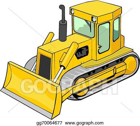 bulldozer clip art royalty free gograph rh gograph com bulldozer clipart