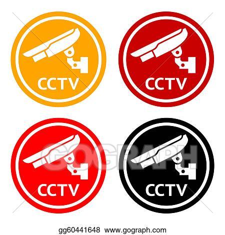 Vector Stock Cctv Pictogram Set Symbol Security Camera Stock