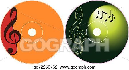 vector stock cd dvd label design template stock clip art