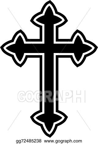 stock illustration celtic cross icon clipart drawing gg72485238 rh gograph com celtic cross images clipart celtic cross clip art free download
