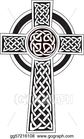Vector Art Celtic Cross Symbol Tattoo Or Art Eps Clipart