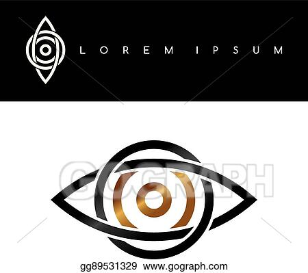 Vector Stock Celtic Eye Symbol Gold Black Monochromatic Abstract