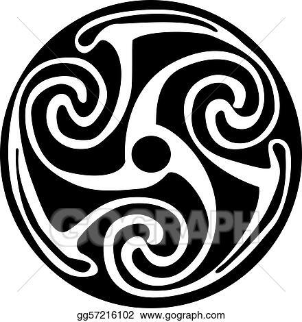 Eps Illustration Celtic Symbol Tattoo Or Artwork Vector Clipart