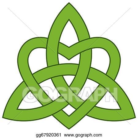 Eps Illustration Celtic Trinity Knot Triquetra Vector Clipart