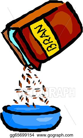 vector illustration cereal box and bowl stock clip art rh gograph com