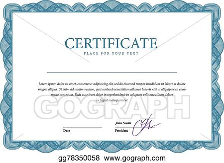 Vector Stock Certificate And Diplomas Template Vector Clipart