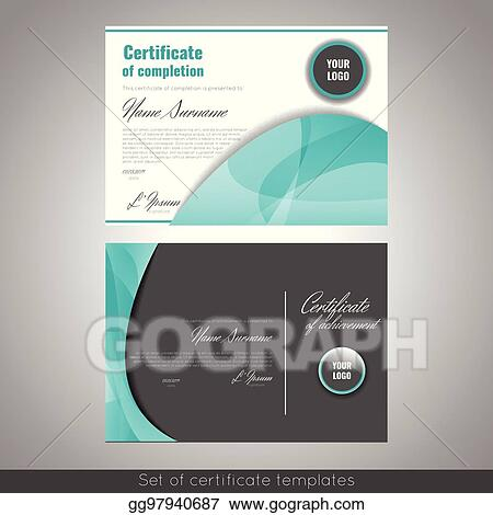 eps illustration certificate of achievement completion