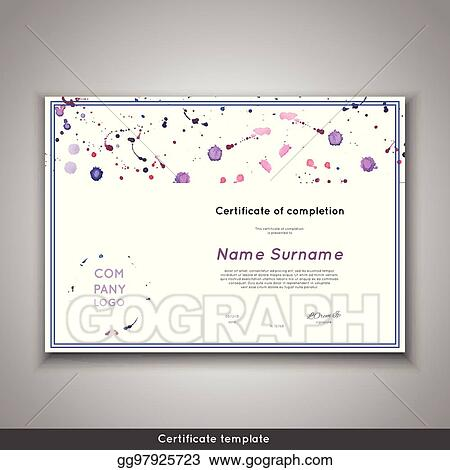 certificate of completion appreciation achievement graduation diploma or award with funny geometrical scandinavian pattern with lines