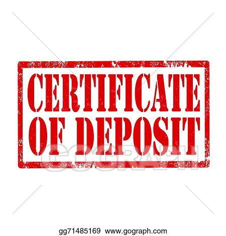 Vector Illustration - Certificate of deposit-stamp. EPS Clipart ...