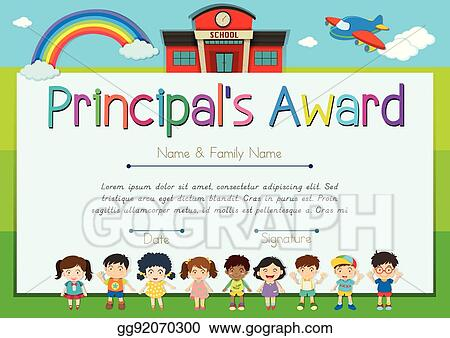 Eps Vector Certificate Template For Principal S Award Stock