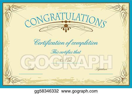 Vector Art - Certificate template. EPS clipart gg58346332 - GoGraph