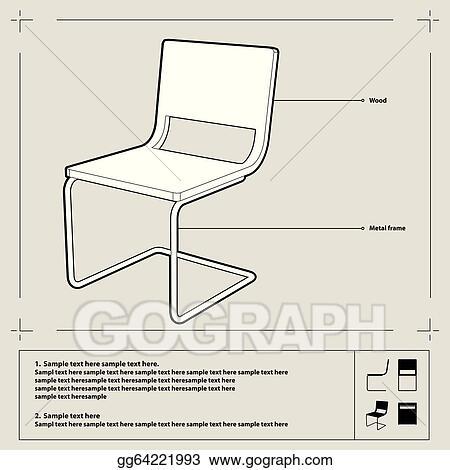 vector stock chair blueprint vector stock clip art gg64221993