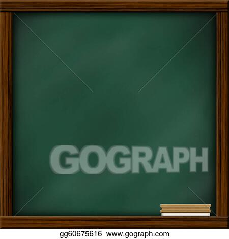 Stock Illustration Chalkboard Blackboard With Frame And Brush