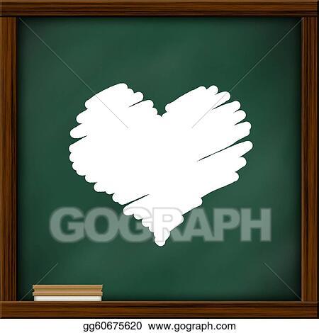 Stock Illustration - Chalkboard blackboard with frame and brush ...