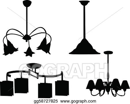 Eps vector chandelier silhouette stock clipart illustration chandelier silhouette aloadofball Images