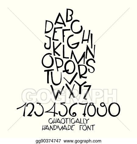 Clip Art Vector Chaotic Decorative Vector Alphabet Hand