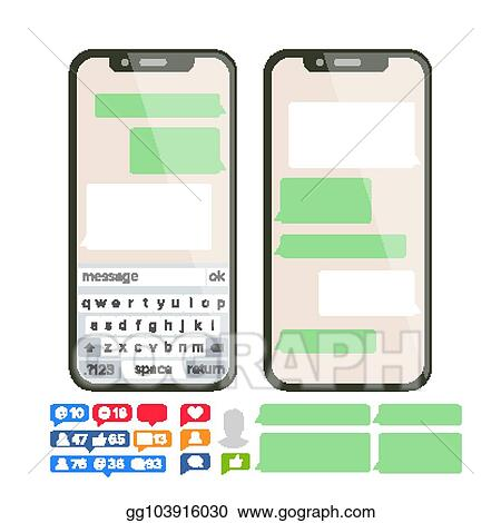 Vector Stock - Chatbot text message vector  chat bot bubble set