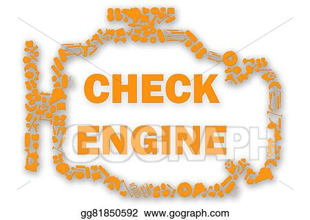 Stock Illustration Check Engine Light Symbol When Something Goes