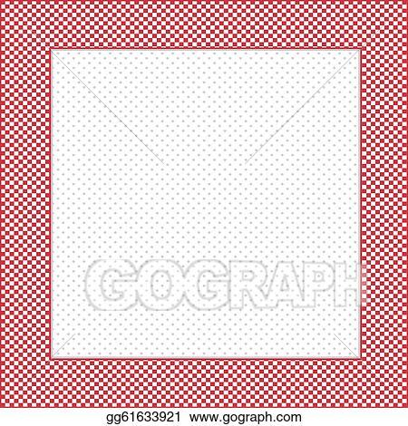 Vector Art - Check frame, polka dot background. EPS clipart ...
