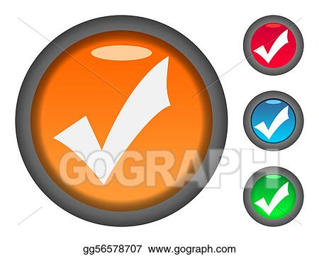 Stock Illustration - Check tick mark button icons  Clipart