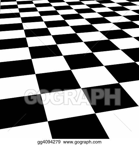 stock illustration checkerboard floor clipart drawing gg4094279 rh gograph com Checkerboard Border checkerboard clipart