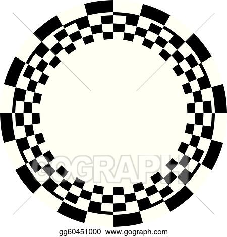 clip art vector checkerboard frame spiral pattern stock eps rh gograph com checkerboard pattern clipart