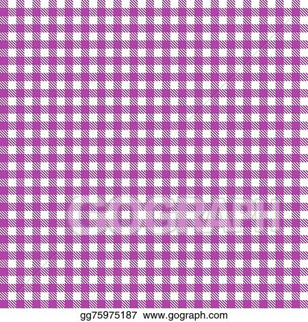 Charming Checkered Tablecloth Pattern PURPLE   Endlessly