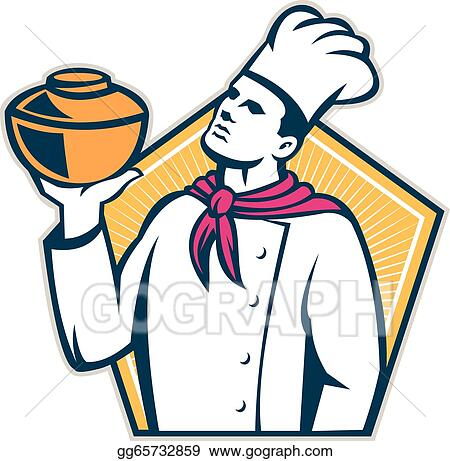 Male chef and pot on stove - Download Free Vectors, Clipart Graphics &  Vector Art