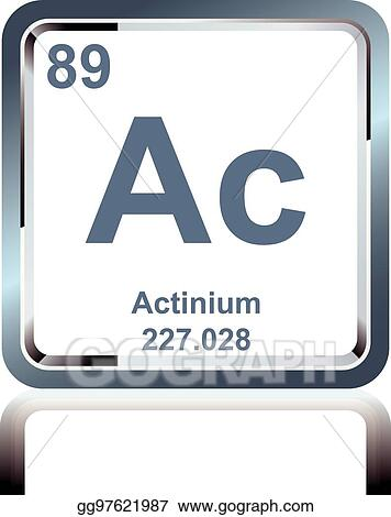Vector Illustration Chemical Element Actinium From The Periodic